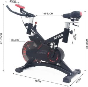 Dimensions Du Spin Bike ISE Moscou SY-7005-1